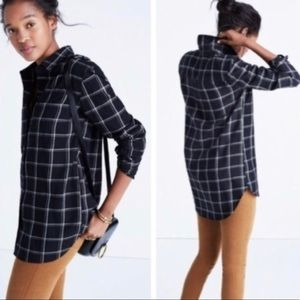 Madewell Plaid Shirt Window pane black Small
